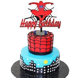 Happy Birthday 3D Layered Inspired by Spiderman